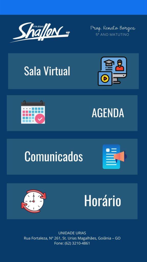 Imagem mostrando o modelo de agenda virtual no Canva